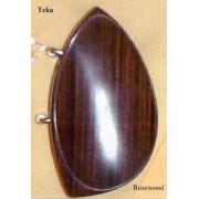 VC05Ru-4/4 Подбородник для скрипки, модель Teka. Форма крепления - U. Материал - палисандр. WBO