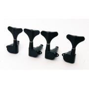 MB-1001-BK Комплект колковой механики для бас-гитары, 2+2, Caraya