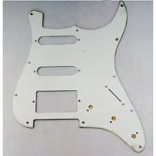 Панель (pickguard) для электрогитары S-S-H, однослойная, белая (H-1002B)