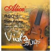 A904 Комплект струн для альта, сталь/сплав алюминия, Alice