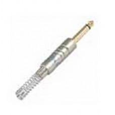 Штекер на кабель LEEM Male 6,35мм, моно, прямой (6CH)