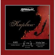 K410-LM Kaplan Комплект струн для альта большого размера, среднее натяжение, D'Addario