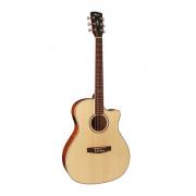 GA-FF-NAT Grand Regal Series Электро-акустическая гитара, с вырезом, натуральный, Cort