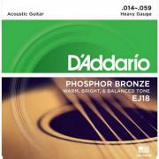 Струны D'Addario Phosphor Bronze Acoustic 14-59 (EJ18)