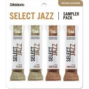 DSJ-I3S Select Jazz Набор тростей для саксофона сопрано, размер 3S-3M, 4шт, Rico