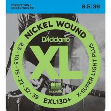 Струны D'Addario Nickel Wound 8.5-39 (EXL130+)