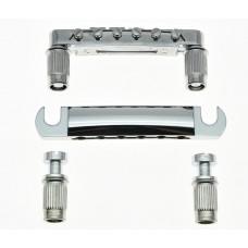 Комплект бридж + струнодержатель для LP, SG и тд. BLP1-BK Хром