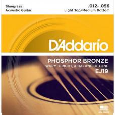 Струны D'Addario Phosphor Bronze Acoustic 12-56 (EJ19)