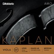 KA410-LM Kaplan Amo Комплект струн для альта, среднее натяжение, Long Scale, D'Addario