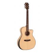 GA-MY-Bevel-NAT Grand Regal Series Электро-акустическая гитара с вырезом, Cort