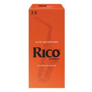 RIA2525 Rico Трости для саксофона сопрано, размер 2.5, 25шт, Rico