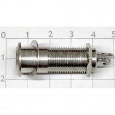 Разъём Hosco EP-108N Jack 6.3 прямой, маленькие контакты, Никель
