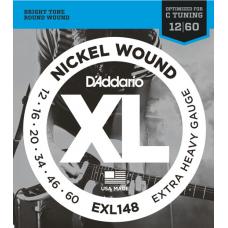 Струны D'Addario Nickel Wound 12-60 (EXL148XL)