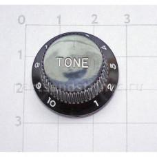 Ручка регулировки тона GF (Guitar Factory), Черный KB-240T/V, 1шт