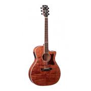 GA5F-FMH-OP Grand Regal Series Электро-акустическая гитара, цвет натуральный, Cort