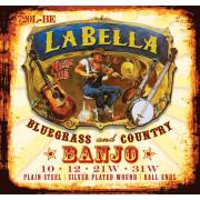 720L-BE Комплект струн для 4-струнного банджо тенор, посеребренные, шарик, 10-31, La Bella