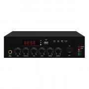 LAM120B Микшер усилитель мощности трансляционный, 120Вт, LAudio