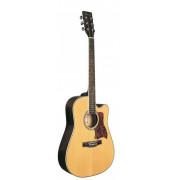 Электроакустическая гитара Caraya 41 с вырезом цвет натуральный (F641EQ-N)