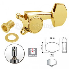 Колки запирающие Gotoh SG381-01-MG 3L-3R Золото