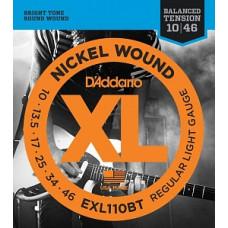 Струны D'Addario Nickel Wound 10-46 (EXL110BT)