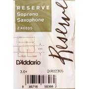 DIR02305 Reserve Трости для саксофона сопрано, размер 3.0+, 2шт, Rico