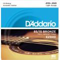 Струны D'Addario American Bronze 85/15 12-String Acoustic 10-50 (EZ940)