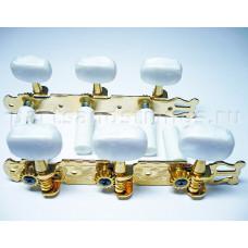 Колки Jinho (Guitar Technology), 3+3 планка, для классической гитары, 35мм, золото (JC78G)