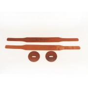 GRT-2 Ремни для оркестровых тарелок, кожа, коричневые, Grig