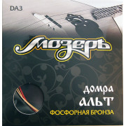 DA3 Комплект струн для домры альт, фосф.бронза/шелк, Мозеръ