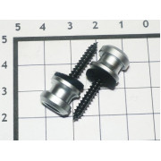 Крепление под стреплоки Schaller матовое серебро (2шт)