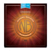 NBM1038 Nickel Bronze Комплект струн для мандолины, фосфорная бронза, Light, 10-38, D'Addario