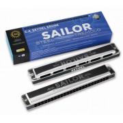 26480D Sailor Steel D Губная гармошка тремоло, Seydel Sohne