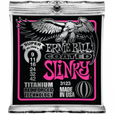 Струны Ernie Ball Coated Titanium Slinky 9-42 (3123)