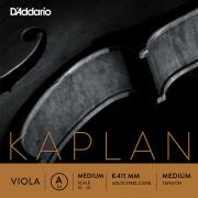 K411-MM Kaplan Forza Отдельная струна А/Ля для альта, среднее натяжение, D'Addario