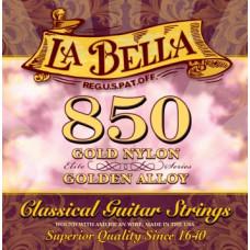Струны La Bella Classic Golden Nylon  Golden Alloy (850)