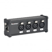 CXA028 DMX коммутатор/преобразователь, 4хXLR(3p)female - RJ-45, Soundking