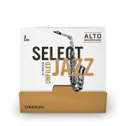 RRS01ASX2H-B25 Select Jazz Трости для саксофона альт, размер 2, жесткие (Hard), 25шт, Rico