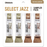 DSJ-L3S Select Jazz Набор тростей для саксофона баритон, 3S-3M, 4шт, Rico