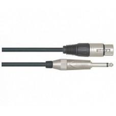 Кабель LEEM микрофонный XLR, jack 6,3 моно, 6 м. (NMH-20)