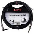 Инструментальный кабель JOYO, Jack 6.3 с угловым коннектором Черный, 4,5м (CM-12)