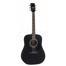 Акустическая гитара Parkwood, цвет черный, с чехлом (W81-BKS)
