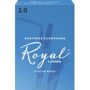 RLB1020 Rico Royal Трости для саксофона баритон, размер 2.0, 10шт, Rico