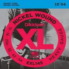 Струны D'Addario Nickel Wound 12-54 (EXL145-XL)
