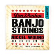 DJN0920 Комплект струн для 5-струнного банджо, никель, 9-20, Dunlop