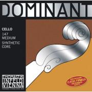 147 Dominant Комплект струн для виолончели размером 4/4, среднее натяжение, Thomastik
