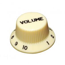 Ручка потенциометра громкости Hosco, под дюймовый шток, кремовый KI-240VI, 1шт