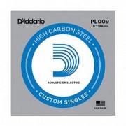 Струна D`Addario для гитары .009, сталь (PL009)