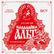 BA7F Комплект струн для балалайки-альт (сталь+ф/б) Господин Музыкант
