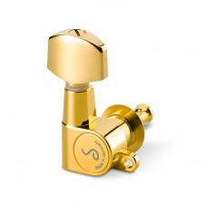 10040520.01.36 M6 Mini Комплект одиночной колковой механики, 6 левых, маленькие, золото, Schaller