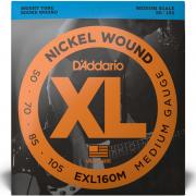 Струны D'Addario Nickel Wound Bass, Medium Scale 50-105 (EXL160M XL)